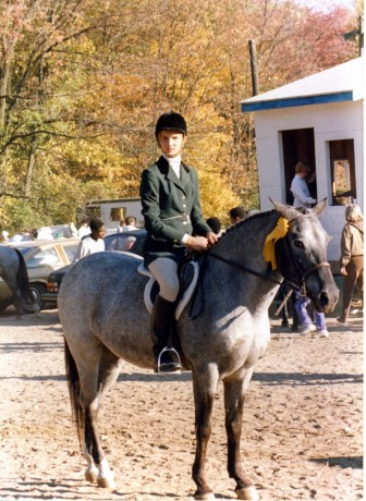 Kendra at a horse show at New Canaan Mounted Troop, on a horse named Lotte. Contributed photo