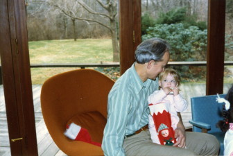 Rip and Kendra Munger during an early Christmas in her life. Contributed photo
