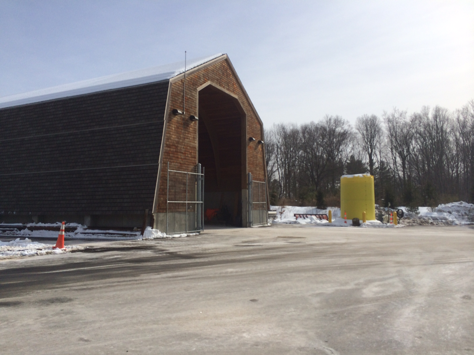 New Canaan Highway Department salt shed, off of South Avenue by the Merritt Parkway. Credit: Michael Dinan