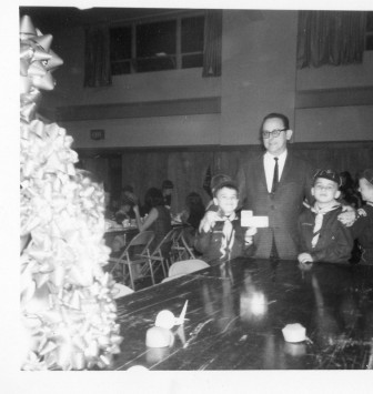 Ray Parry with sons Kevin and Jim in the Cub Scouts, 1965. Contributed photo