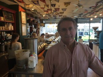 New Canaan's Doug Zumbach, owner of Zumbach's Gourmet Coffee on Pine Street. Credit: Michael Dinan