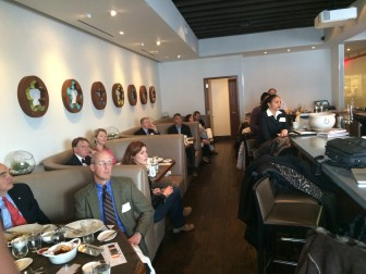 At the New Canaan Chamber of Commerce's Breakfast with First Selectman Rob Mallozzi, held at elm restaurant. Credit: Michael Dinan