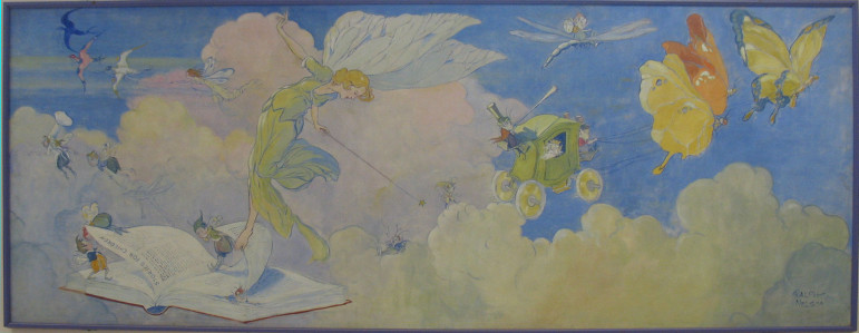 WPA painting by Ralph Lewis Nelson. This mural hangs at South School.