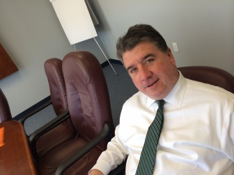 New Canaan resident Brian Rogers, president of The SIG Insurance Agencies, in his Stamford office. Credit: Michael Dinan