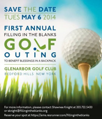 Filling in the Blanks will hold its first fundraiser, a golf outing, on May 6.