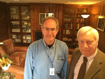 Silver Hill Hospital head of facilities Frank Morabito (L) with Dr. Sigurd Ackerman, president and medical director.