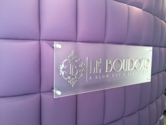 Inside Le Boudouir, a new salon at 160 Main St. in New Canaan.
