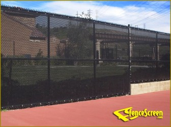 This is what the mesh will look like. The fences at Gamble and Mellick Fields in Mead Park are far shorter.