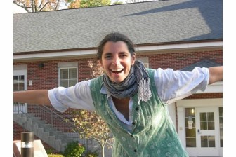 """""""Myself on the lawn of Park Mead Condos where we live and which we took organic."""" —Micaela Porta. Contributed photo"""