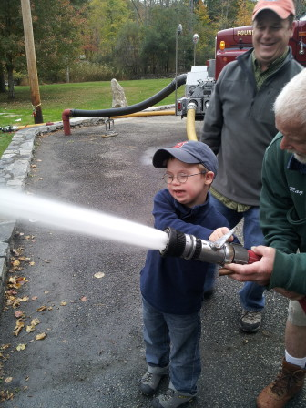 New Canaan's Andrew Blackwell at the Fall Festival. Contributed photo