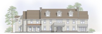 Here's the new, 7,700-square-foot home planned for a portion of the property at 441 Canoe Hill Road. At least one rendering shows this home co-existing on the 2.14-acre property at Canoe and Ferris Hill Roads. Credit: Zillow.com