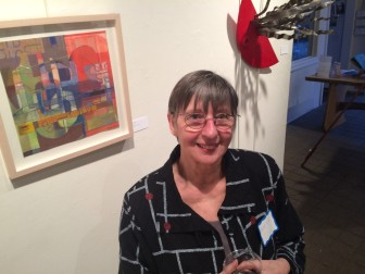 Bärbel Green, owner of a longtime, eponymous jewelry store on Elm Street and original founder of Art in the Windows. She's a member of Carriage Barn Arts Center and past board member. Credit: Michael Dinan