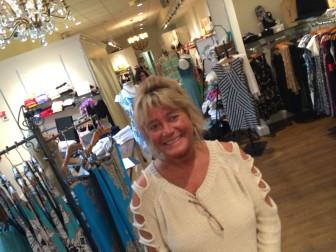 Victoria Larkin, floor supervisor at Lyn Evans Potpourri Designs on Elm Street. Credit: Michael Dinan