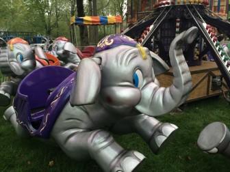 Rides at the May Fair, to be held Saturday—rain or shine. Credit: Michael Dinan
