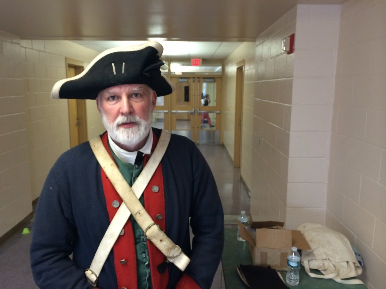 Re-enactor with the Fifth Connecticut Regiment. Credit: Michael Dinan