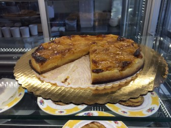 Here's a pear tart with an almond cream. Gingerbitz features plenty of pastries, all made daily right in the Elm Street shop, including apple tartlets and breakfast pastries, Polish coffee cake, cupcakes and other cakes. Credit: Michael Dinan