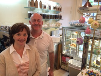 New Canaan's Karen and Andrew Zuckert have opened Gingerbitz on Elm Street. Credit: Michael Dinan