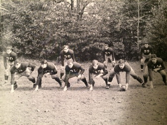 "New Canaan High School football, ca. 1941. William R. ""Rodney"" Conner is number 29 in the back row. Contributed photo"