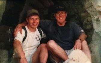 George and Colin, hiking in Arizona ca. 2007. Contributed photo
