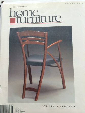 Here's the armchair Thomas Throop (NCHS '82) created that Prince Charles sat in, gracing the cover of a popular industry magazine.