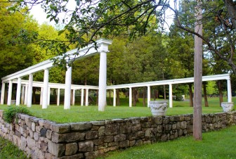 Colonnade at Mead Park. Credit: Terry Dinan