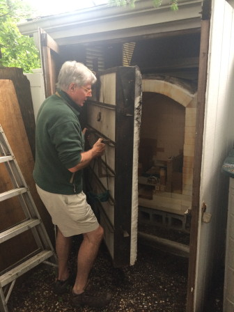George McEvoy installed a kiln on his property in New Canaan. Credit: Michael Dinan
