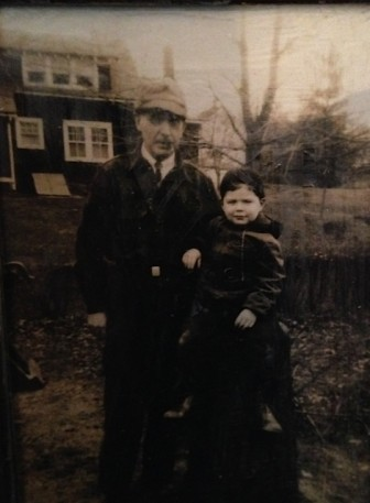 George McEvoy, with 'Grandpa Beers' in Old Greenwich, ca. 1942. Contributed photo