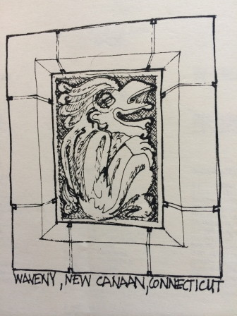 Joe Ziegahn Sr.'s back cover illustration for one installment of the 1983 Waveny Summer Concert Series plays off of the gargoyles.