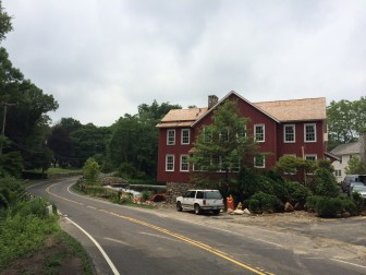 Officials say that right now, the plan during construction of a new Jelliff Mill Bridge is to keep one lane of traffic open on the popular east-west road, though it's not absolutely ruled out that the whole road will be closed. Credit: Michael Dinan