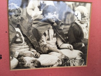 Jeff Caldwell, #14 in the center, played linebacker in his senior year for the 1968 NCHS Rams—our high school's first-ever undefeated team, at 10-0, under Coach Joe Sikorski.