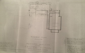 A site plan for a 1940 addition to Center School. Courtesy of the New Canaan Historical Society.