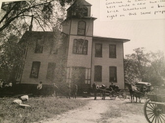 Center School ca. 1894, after an addition to the original structure. Courtesy of the New Canaan Historical Society.