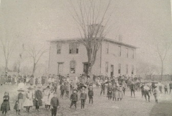 The original Center School. Courtesy of the New Canaan Historical Society.