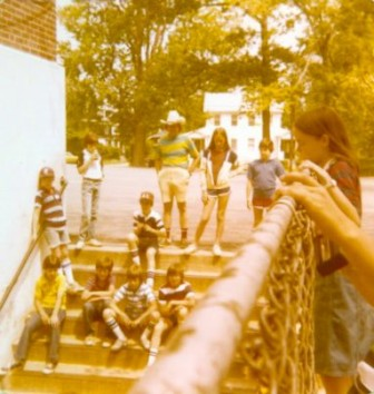 Onlookers always gathered on the stairs and along the chain link fence that ran the length of the knockout pit.