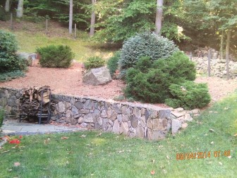 This is the Ruoff's backyard patio area at 59 Weed St. Contributed