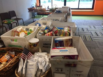Inside the New Canaan Food Pantry at St. Mark's Episcopal Church. Credit: Michael Dinan