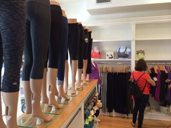 Inside the newest business on Elm Street, Jade is a boutique women's active wear shop. Credit: Michael Dinan