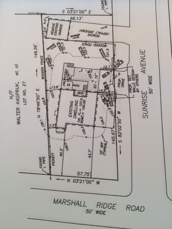 Here's a site plan for 34 Marshall Ridge Road.