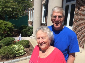 Vicki and Vincenzo Socci of New Canaan. Vicki worked four days per week through Visiting Nurse at Center School. The couple has lived on Parade Hill Road for more than 50 years. Credit: Michael Dinan