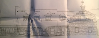 Here's a rendering of the new home planned for 713R Smith Ridge Road, specs by Yates & Company LLC of Southbury.