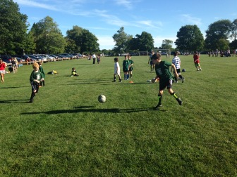 Rec soccer players at Waveny. Credit: Mike Rau