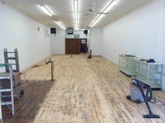 The longtime Varnum's Pharmacy space awaits its newest tenant. Credit: Michael Dinan