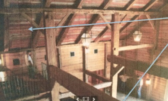 The interior of the Larsons' barn, prior to demolition (and rebuilding). Contributed photo