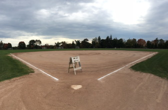 One of the softball fields at Waveny typically used by men's rec leagues. Credit: Michael Dinan