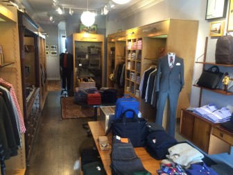 Men's clothing and accessories shop Jack Spade, the men's line of the hugely successful Kate Spade brand, opened at 143 Elm St. in October 2012. It's closing at the end of January 2015. Credit: Michael Dinan