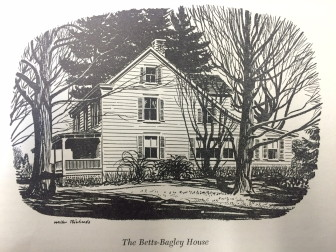 The original dwelling on Oenoke Ridge Road where Crajah House now sits was moved in 1886 to make room for the prominent brick house that still stands there. Photo courtesy of the New Canaan Historical Society