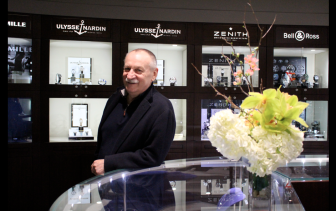 Manfredi owner Roberto Chiappelloni at his Greenwich store. Credit: Leslie Yager