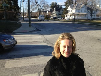 Kimberly Norton of Green Avenue is spearheading an effort to revitalize, in some form, the well-known 'Slow Down In Our Town' campaign. Credit: Michael Dinan