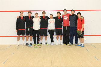 New Canaan High School Rams Squash Nationals A Team. Contributed