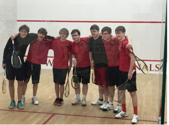 New Canaan High School squash JV team. Contributed
